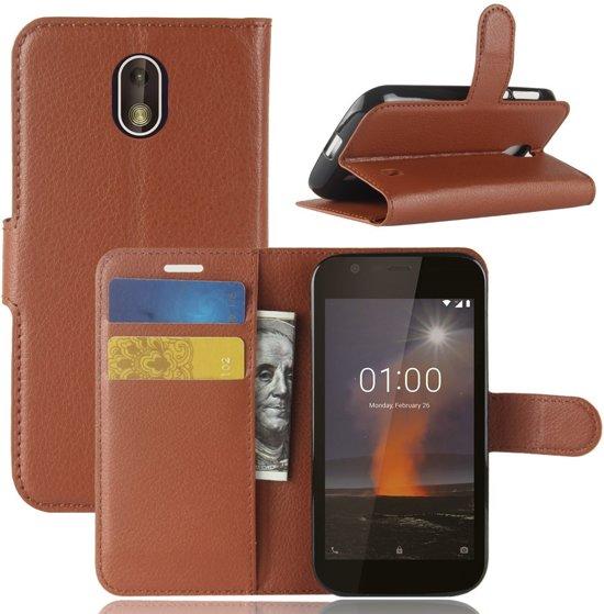Book Case Hoesje Nokia 1 - Bruin