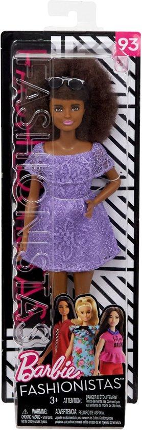 Barbie Fashionistas Met Paarse Jurk - Barbiepop