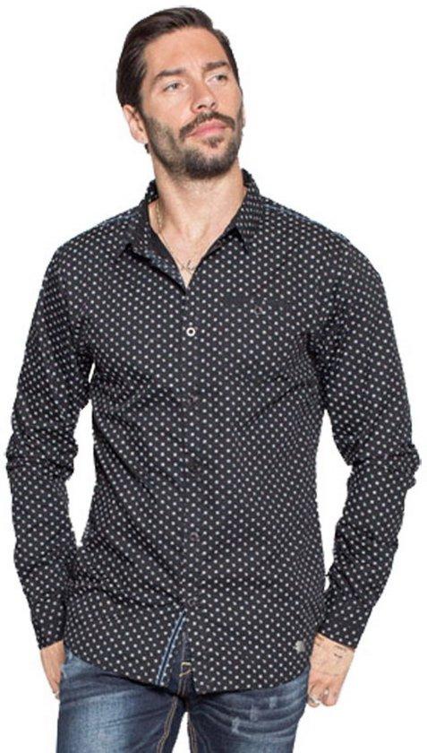 Mz72 Trendy Met Zwart Design Borstzak Overhemd Dolaros Heren qggAwrT6