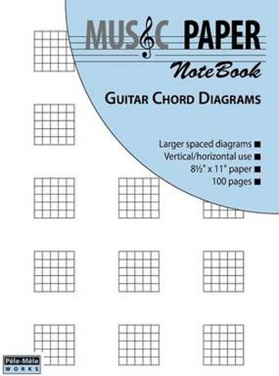 Bol Music Paper Notebook Guitar Chord Diagrams Ashkan