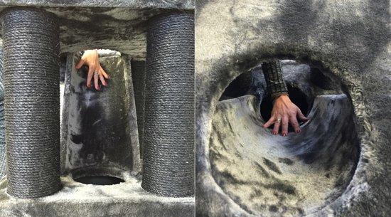 Krabpaal Kilimandjaro de Luxe Blackline Dark Grey voor grote katten