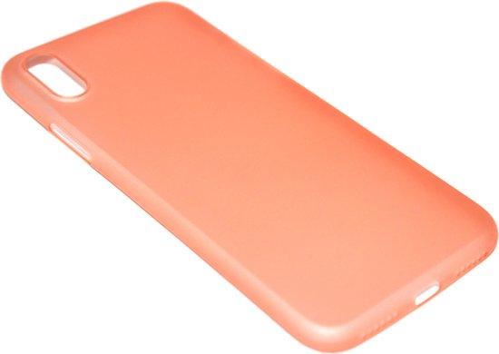 Oranje kunststof hoesje iPhone XS / X