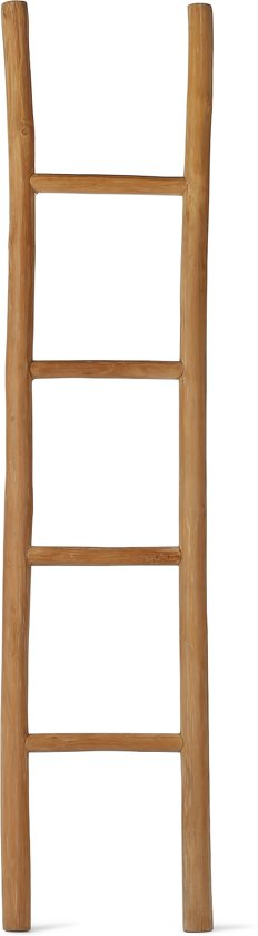 Decoratie ladder ladder in huis mia domo decoratie ladder houten trap steigerhouten - Decoratie houten trap ...