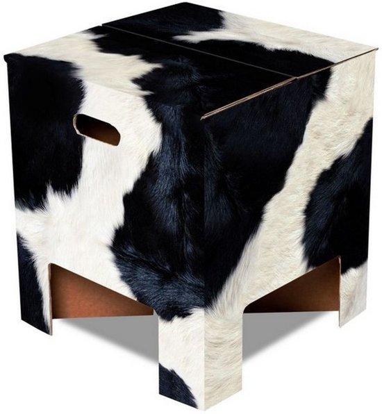 Dutch Design Brand kartonnen krukje - Koeprint - Cow