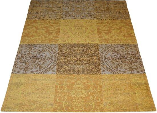 Karpet Vintage Patchwork.Loper Lemon 4009 Vloerkleed Patchwork Karpet Vintage