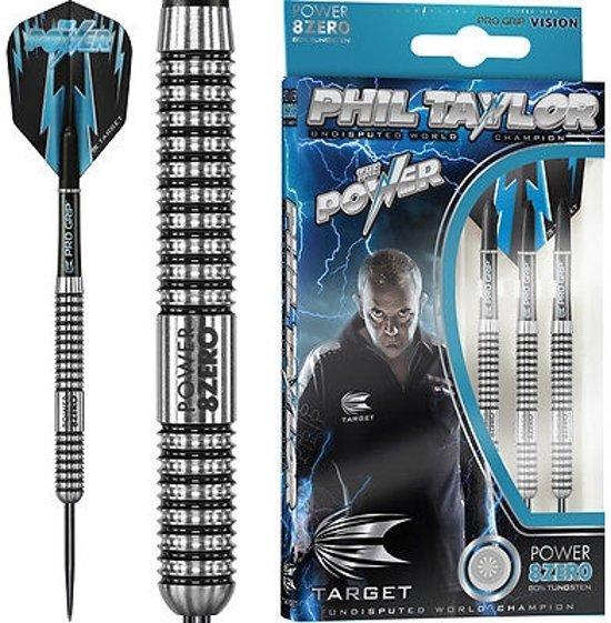 PHIL TAYLOR POWER 8ZERO 80% Tungsten Steel Tip Darts 24 gr