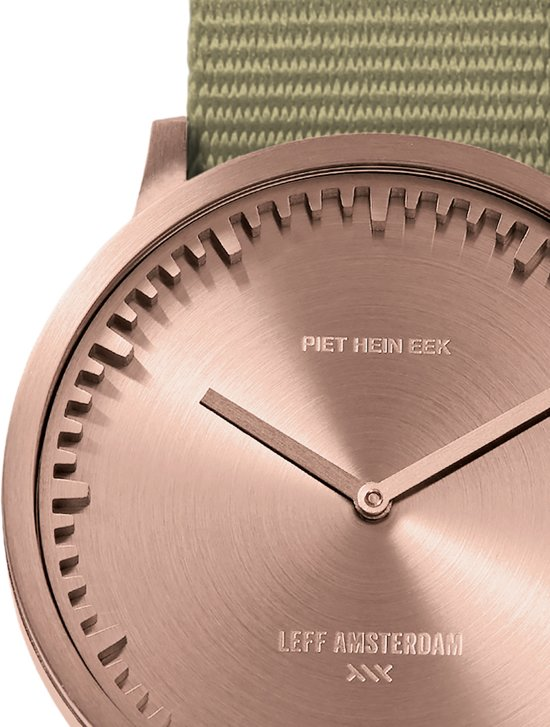 Tube watch T40 rose gold / sand nato strap