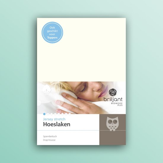 Briljant Bedmode - Hoeslaken Jersey stretch - 90x200 - off-white