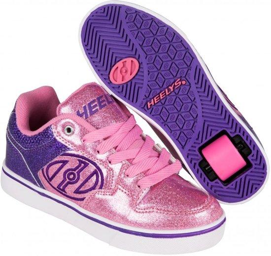 Chaussures À Roulettes Heelys Double Up Blanc - Baskets - Enfants - Taille 32 - Filles Multi - Blanc / Rose 5qV2rx7