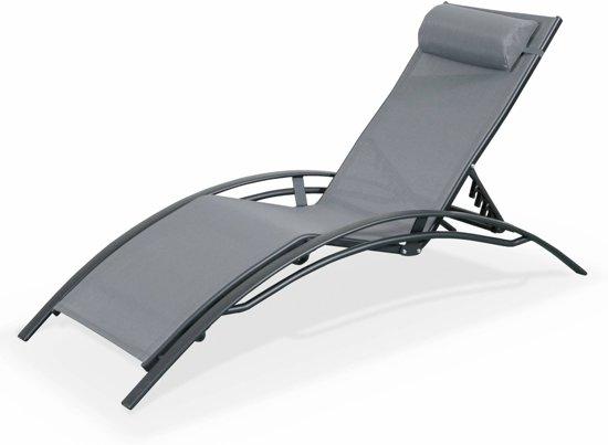 Ligstoel Tuin Aluminium : Bol ligstoelen in aluminium en textileen