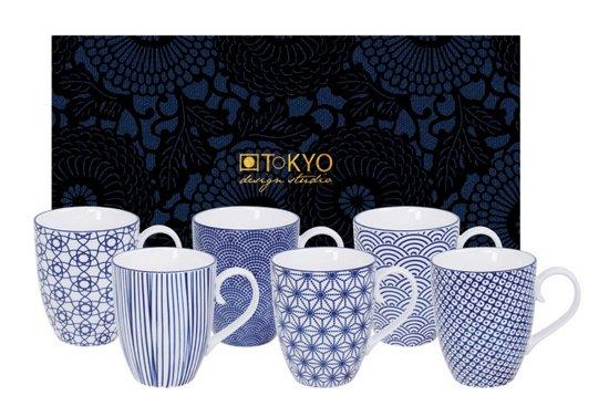 Tokyo Design Studio Nippon Blue Kopjes 0,38 L - Set van 6