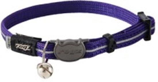 Rogz Alleycat Halsband Paars - Kattenhalsband - 4.1x23.6 cm