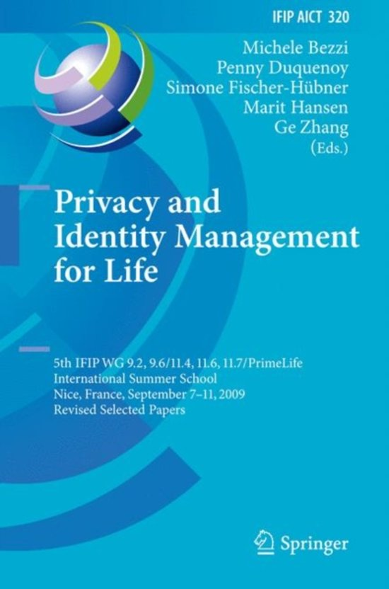 Boek cover Privacy and Identity Management for Life van  (Hardcover)