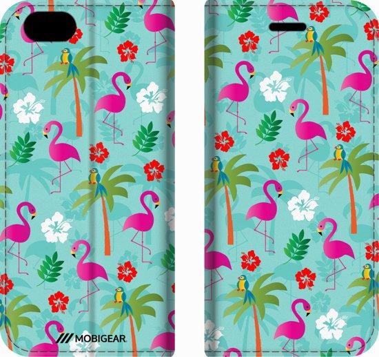 Mobigear Design Mobigear Tropical Design Wallet Bookcase Hoesje 2 iPhone 6 / 6s