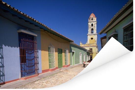 Kleurrijke gebouwen in het Noord-Amerikaanse Cuba Poster 60x40 cm - Foto print op Poster (wanddecoratie woonkamer / slaapkamer)