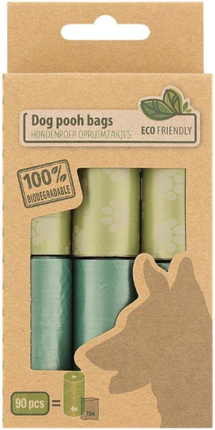 90 Hondenpoep zakjes / Eco Friendly / Opruimzakjes / 100% biologisch afbreekbaar