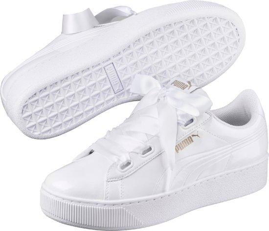 PUMA Vikky Platform Ribbon P Sneakers Dames - White-White
