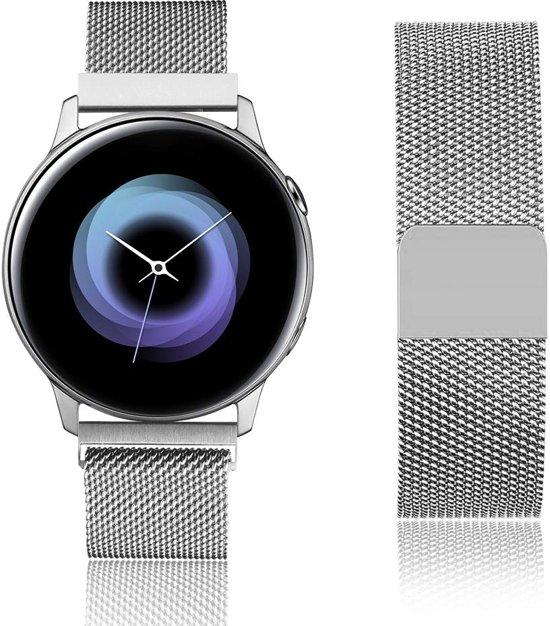 Milanese Loop Armband Voor Samsung Galaxy Watch Active / 42 MM Band Strap - Milanees Armband Polsband - Zilver Kleurig