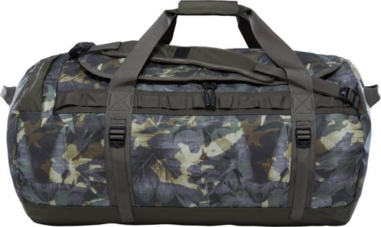The North Face Base Camp Duffel Reistas L - 95 L - English Green Tropical Camo / New Taupe Green - vernieuwd model