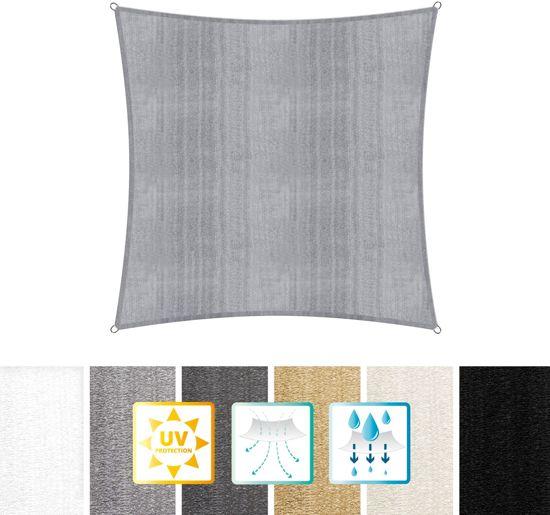 Vierkante luifel van Lumaland incl. spankoorden polyester met dubbele pu-laag   Vierkant 3 x 3 x 3 meter   160 g/m²