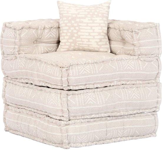 vidaXL Tweezits slaapbank modulair stof beige