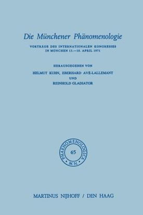 Die M nchener Ph nomenologie