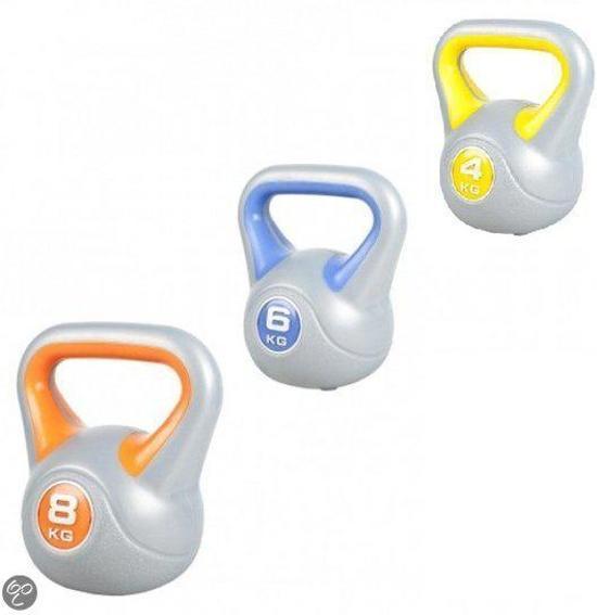 Sportbay Kettlebell - Voordeel Set - 4, 6 en 8 kg - Grijs
