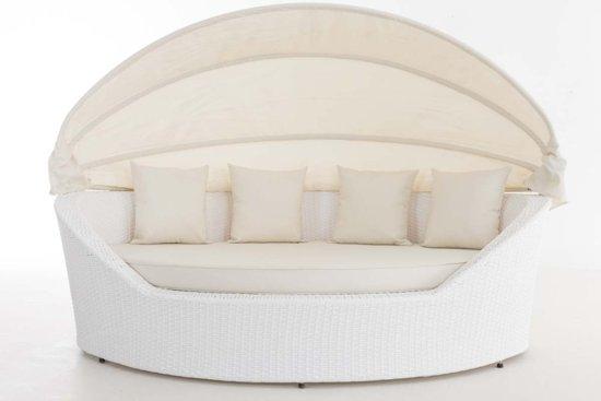 Bol designs ovaal lounge ligbed santorini wit vlechtwerk