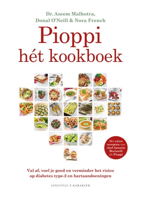 Boek cover Pioppi hét kookboek van Aseem Malhotra (Hardcover)