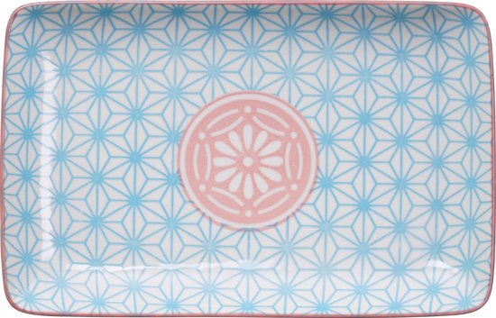 Tokyo Design Studio - star wave plate rect blue 21x13.5cm