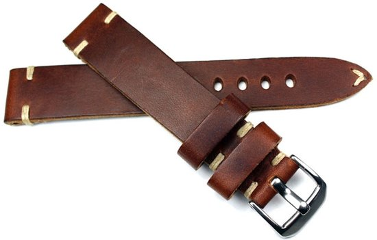 Horlogeband Tiber Vintage Mahagoni - 18mm