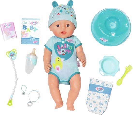 Afbeelding van BABY born® Soft Touch Jongen - Interactieve babypop - 43cm speelgoed