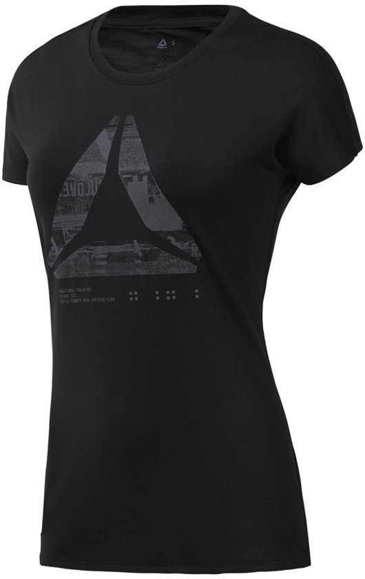 Graphic Dame Black Shirt Activchill Tee vn0mwN8O