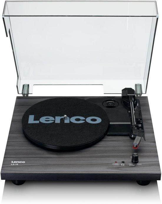 Lenco LS-10 platenspeler met ingebouwde speakers - Zwart