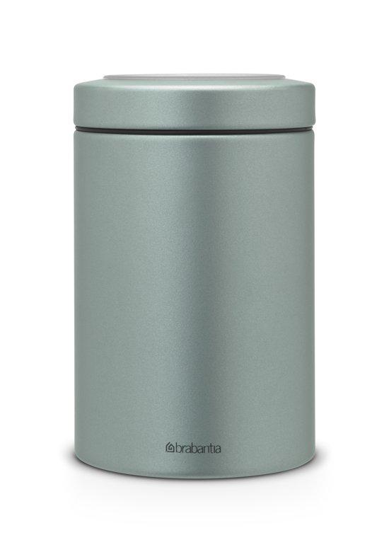 Voorraadbus 3 Liter.Brabantia Voorraadbus Met Vensterdeksel 1 4 L Metallic Mint