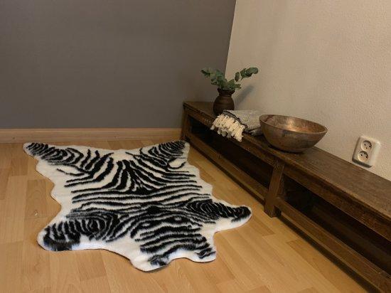 Wonen In Wit : Bol vloerkleed imitatie zebra zwart wit zoals in vt wonen