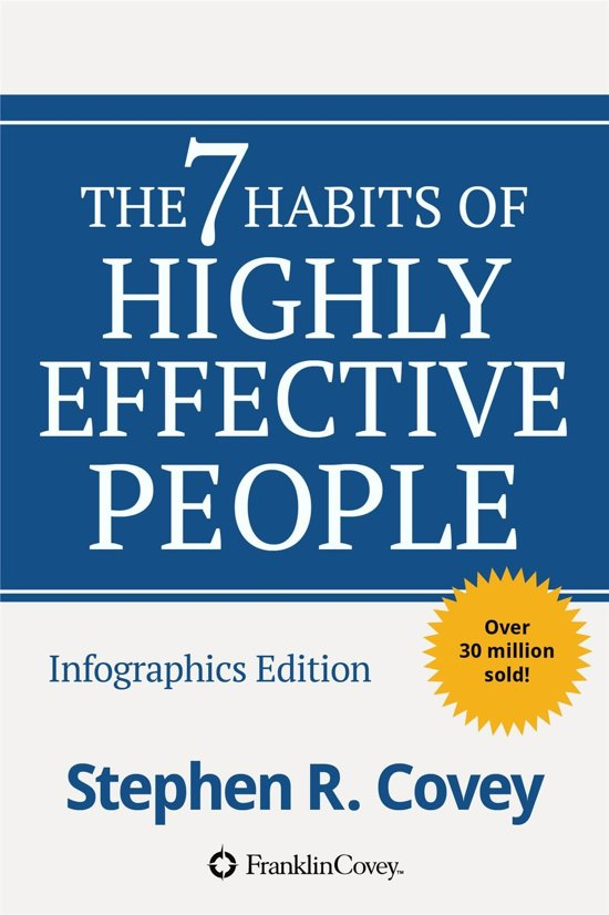 Boek cover The 7 Habits of Highly Effective People Inforgraphics edition van Stephen Covey (Onbekend)