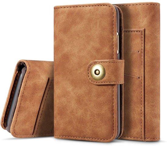 3253ae9fe15 bol.com   Bruin kunstleren iPhone X portemonnee hoesje met los te ...