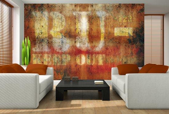 Fotobehang Vlies | Industrieel | Oranje | 368x254cm (bxh)