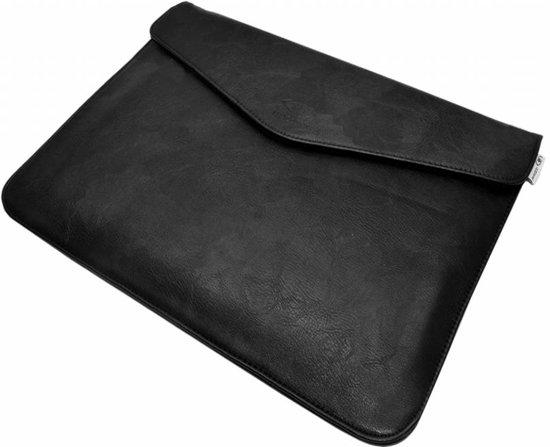 Luxueuze universele Ultra Sleeve van hoogwaardig PU leder , laptop tas 13.3 inch, zwart , merk i12Cover