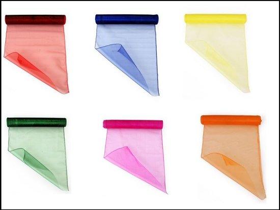 6x organza stof rollen mix colour - Organza dekostoff rollen ...