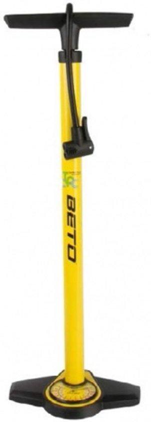 Beto Hoge druk fietspomp met drukmeter geel