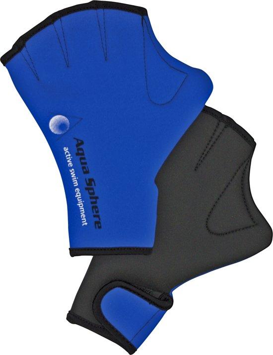 Aqua Sphere Swim Glove - Aquafitness Handschoen - M - Blauw