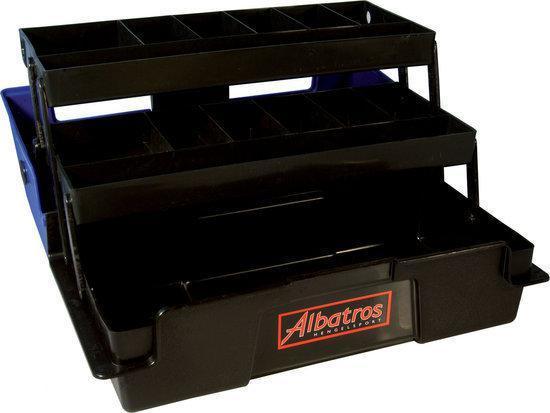 Albatros Viskoffer - Met 2 Laden - 36 x 18 x 17 cm - Blauw