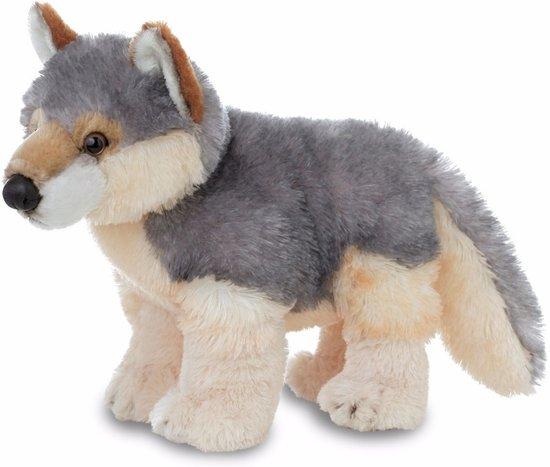 Pluche wolven knuffel 30 cm - knuffeldier