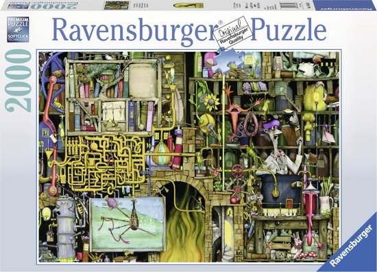 Ravensburger puzzel Colin Thompson The Loopy Labaratory - legpuzzel - 2000 stukjes