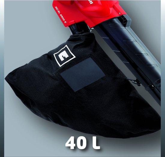 Einhell GC-EL 2500 E Elektrische Bladblazer - 2500 W - Geïntegreerde hakselfunctie: 10:1 - Inhoud opvangzak: 40 L - Inclusief draagriem