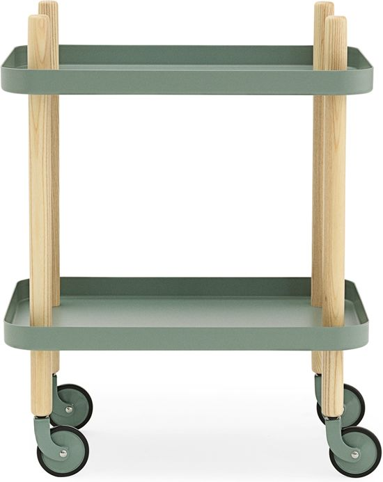 Normann Copenhagen Block trolley Dusty Green 50x35
