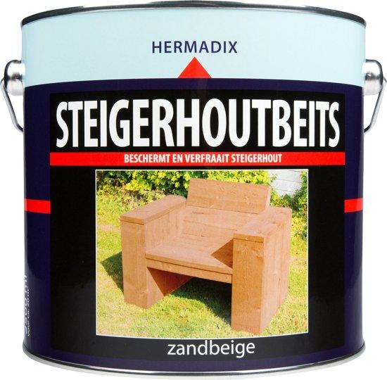 Hermadix Steigerhoutbeits - 2,5 liter - Zand beige