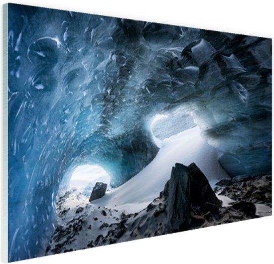 Gletsjergrot Glas 60x40 cm - Foto print op Glas (Plexiglas wanddecoratie)